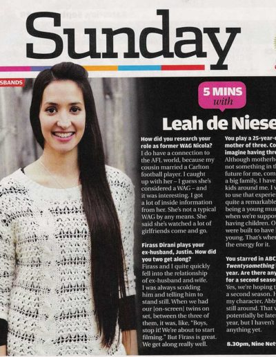 5 Minutes with Leah de Niese